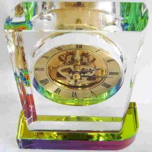 Настольные часы с прозрачным корпусом 18 см.