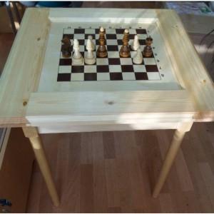 Стол шахматный Большой 2, сосна