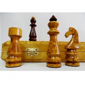 Шахматы складные подарочные из карельской берёзы 50 х 50 см.