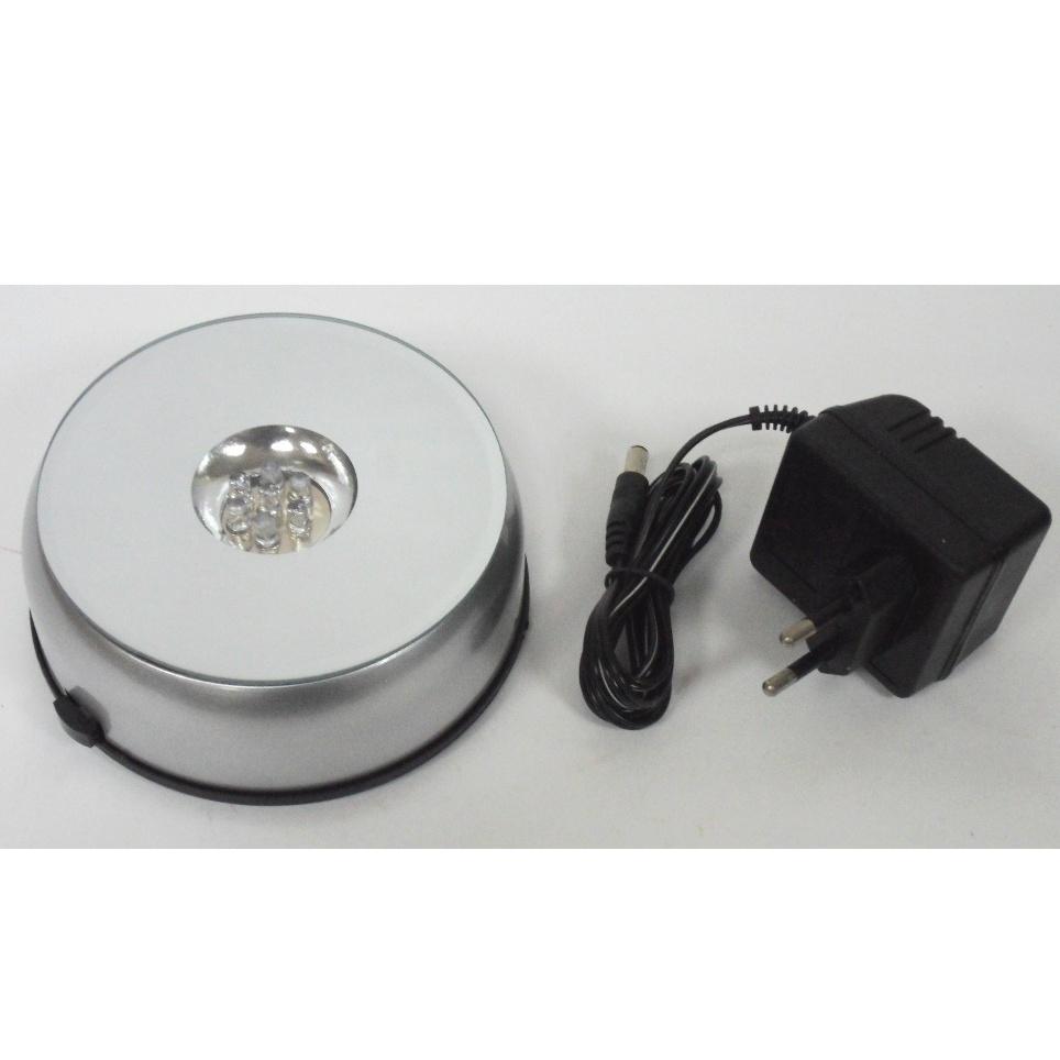 Светящаяся подставка под хрустальные изделия 12 см. с адаптером или на батарейках