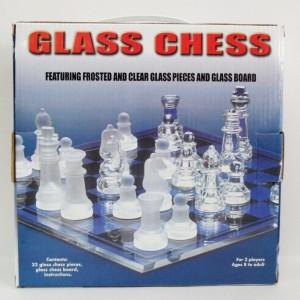 Шахматы стеклянные подарочные 20 х 20 см.