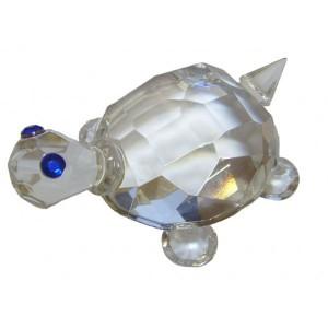 Симпатичный и полезный сувенир фен-шуй Хрустальная черепашка 6 см.