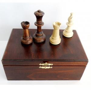 Шахматные фигуры Стаунтон, турнирные 5 в деревянной коробке
