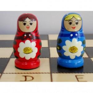Шахматы Расписные матрёшки, 40 х 40 см.