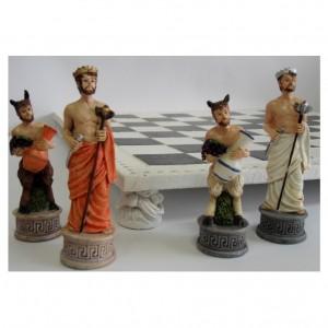 Шахматы из полистоуна Весёлые фавны 45 х 45 см.