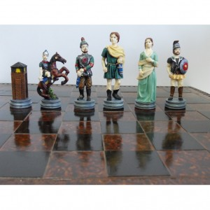 Шахматный набор Парис и Елена, Троянская война, полистоун, 44 х 44 см.
