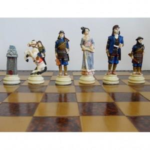 Шахматы Воины Древней Японии, Ниндзя и самураи, полистоун 44 х 44 см.