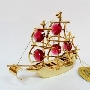 Сувенир Алые паруса это золото 24К и кристаллы сваровски