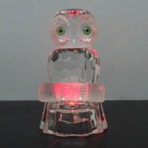 Хрустальная сова с переменной подсветкой