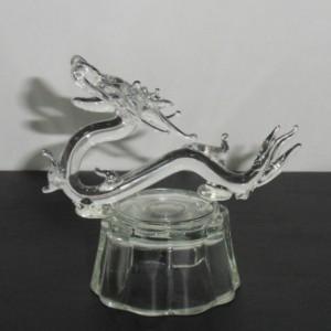Сувенир из фигурного стекла Дракон с подсветкой