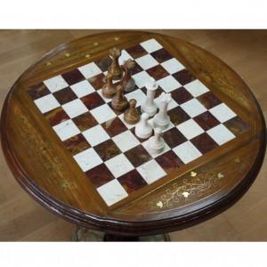 Стол шахматный, комбинированный, с фигурами