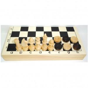Шахматы шашки в доске 29 х 29 см. с магнитным замком