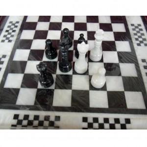 Каменные шахматы ОЧМ инкрустированные
