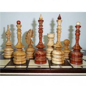 Деревянные шахматы Лакированный дуб, 47 см., ручная резьба