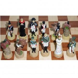 Шахматы металлические Бородино в деревянном ларце 36 см.