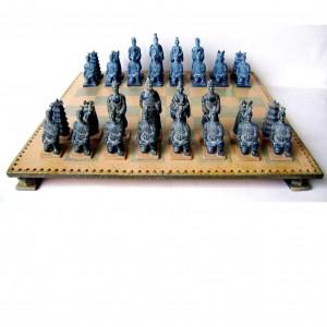 Шахматы полистоун 42 см. Терракотовая армия