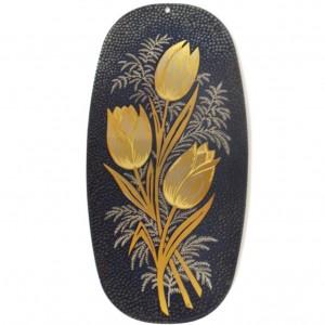 Гравюра на стали Золотые тюльпаны