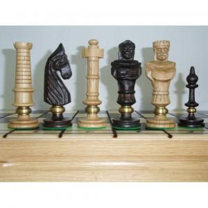 Шахматы деревянные Королевские люкс светлые 62 см.