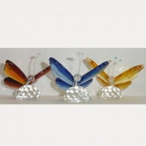 Бабочка хрустальная 6 см.