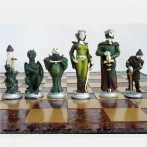 Шахматы 45 x 45 см. из искусственного камня Волшебная сказка