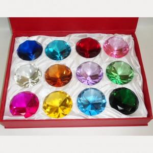 Набор из 12 шт. хрустальных кристаллов по 8 см.