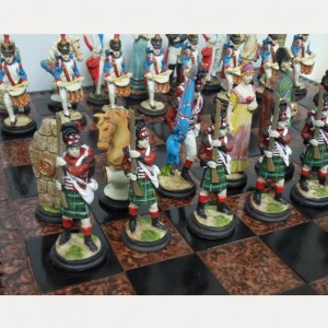 Шахматы из полистоуна 45 х 45 см. Ватерлоо арт. 001626