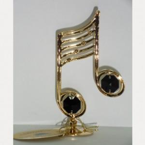 Сувенир Ноты с золотом и чёрными кристаллами сваровски