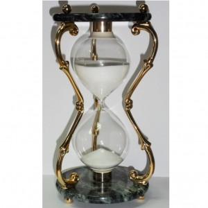 Песочные часы металл камень 26 см., 1 час