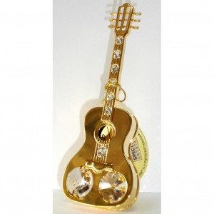 Сувенир Гитара 11 см. с кристаллами