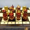 Шахматы 50 см. резные Воины со щитами