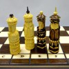 Шахматный набор Шахматная битва резное дерево на 50 см.