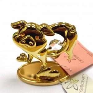Свинья 2019 Золото и swarovski 016821