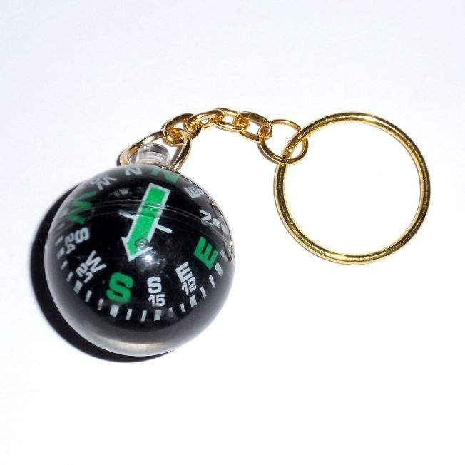 Сувенир подарок брелок в виде компаса шарика