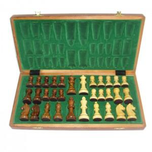 Шахматы из палисандра и самшита Палисандр подарочный 3,25 дюйма в складной доске